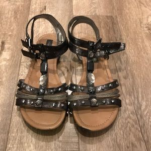 Rhinestone gladiator sandals